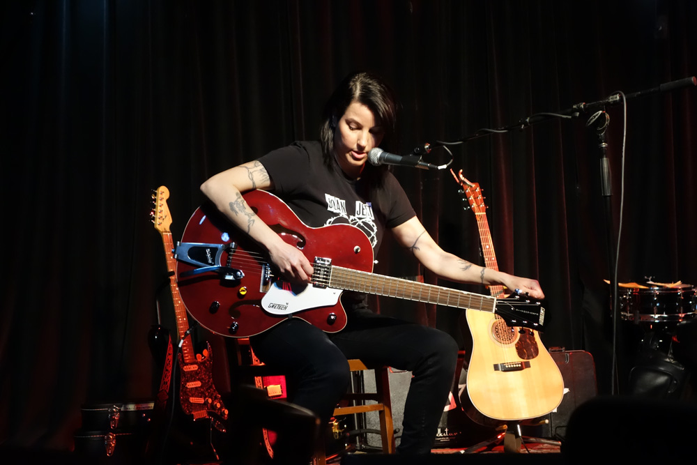 Sue Cag on the Gretsch
