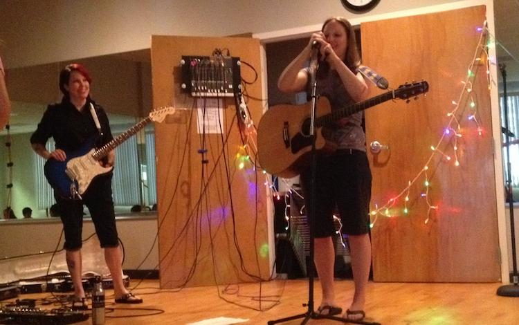 Folkstar at Girls Rock NC Camp