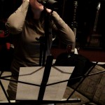 Kim Dicso recording vocals