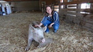 Kim at Farm Sanctuary