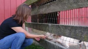 Kim at Farm Sanctuary