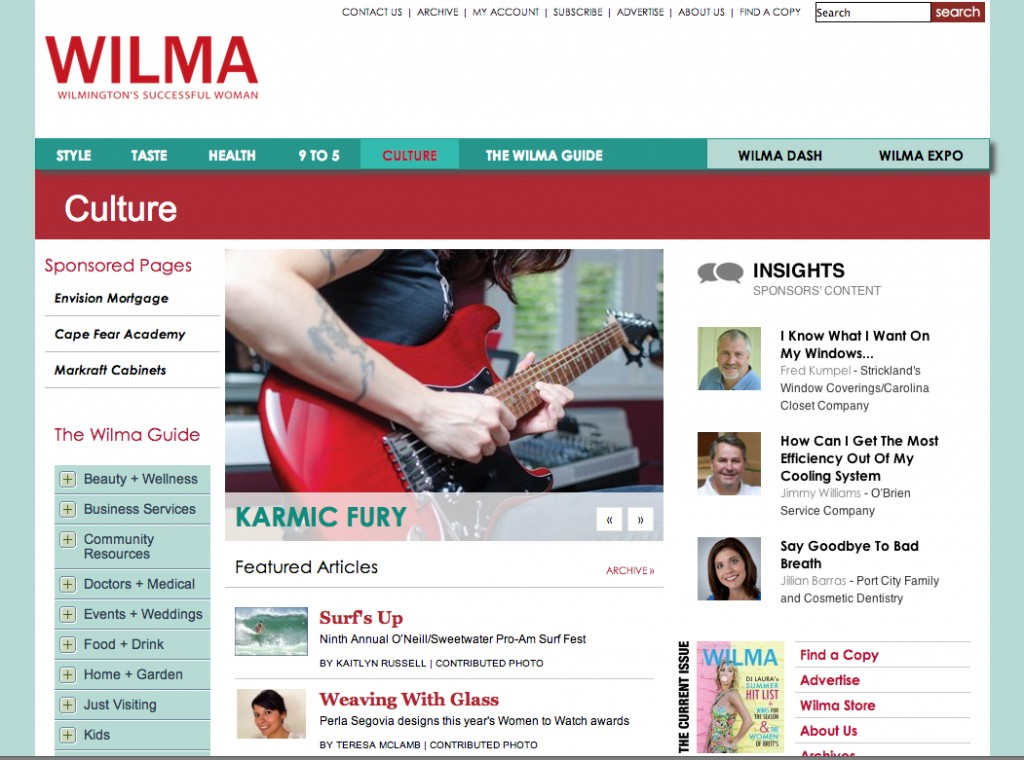 KFR featured article on Wilma website