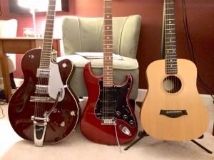 Gretsch, Fender, Taylor