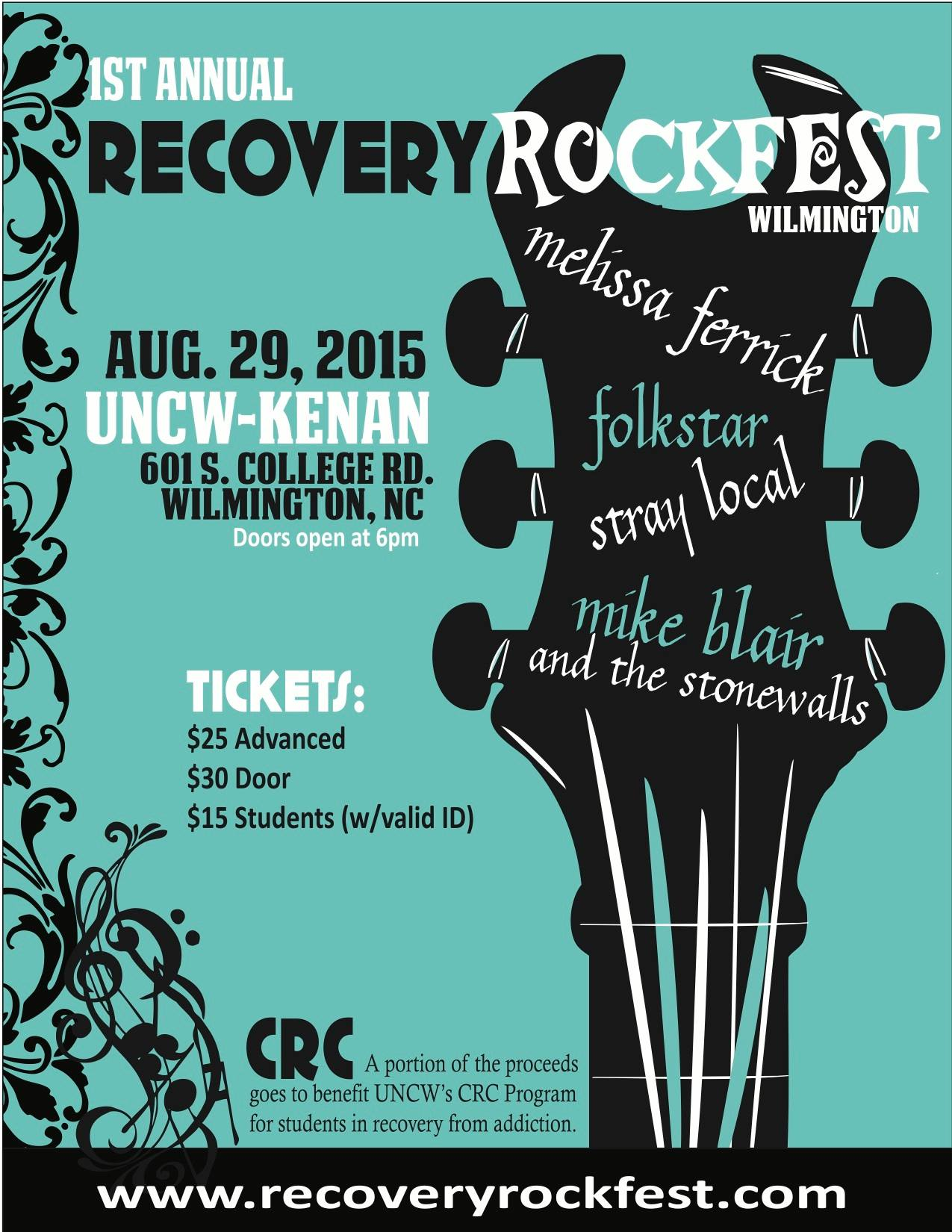 Recovery Rock Fest Poster