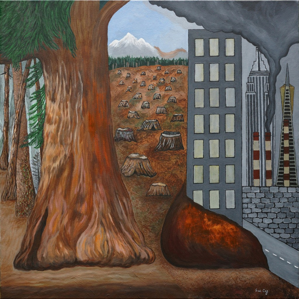 Treelines and Skylines Painting by Sue Cag